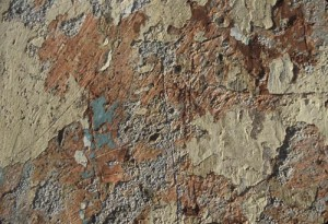 Wall texture, peeling paint in Alamos, Sonora, Mexico. Photo by Anders Tomlinson.