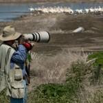 Anders Tomlinson photographing on Tule Lake National Wildlife Refuge.