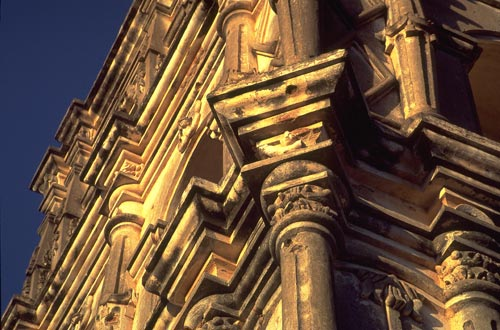 Bishop Reyes Cathedral detail, Alamos, Sonora, Mexico.  Photo by Anders Tomlinson.