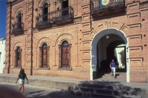 The Palacio Municipal in Alamos, Sonora, Mexico. Photo by Anders Tomlinson.