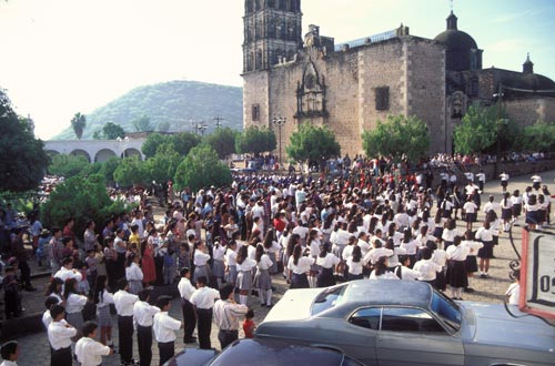 Independence day celebration in the Plaza, Alamos, Sonora, Mexico.  Photo by Anders Tomlinson.