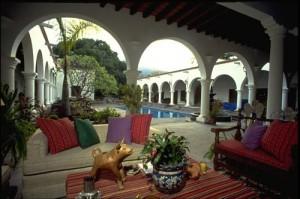 Interior portales at Casa de los Santos, Alamos, Sonora, Mexico. Photo by gary Ruble.