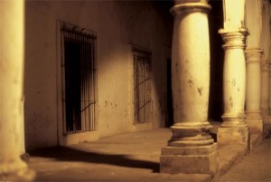Governor's Mansion ruin at night, Alamos, Sonora, Mexico. Photo by Anders Tomlinson.