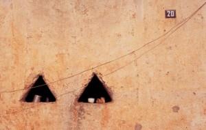 triangle windows on Calle Las Auroras. Alamos, Sonora, Mexico. Photo by Anders Tomlinson.