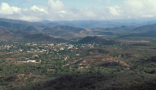 view from Tecolete hill, Alamos, Sopnora, mexico.  Photo by Anders Tomlinson