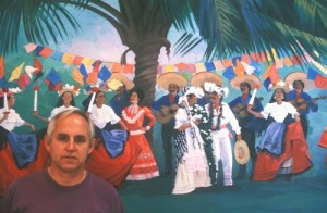 James F. Wilson and painting, Alamos, Sonora, Mexico. Photo by Anders Tomlinson.