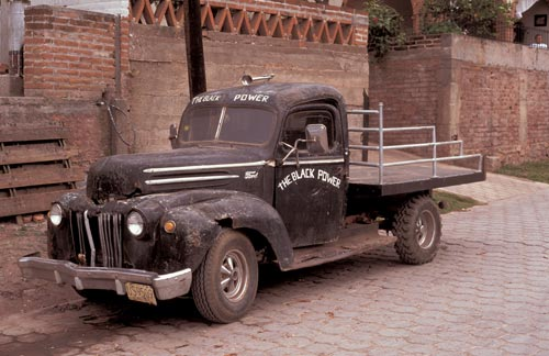 The Black Power  flatbed truck, Alamos, Sonora, Mexico.  Photo by Anders Tomlinson.