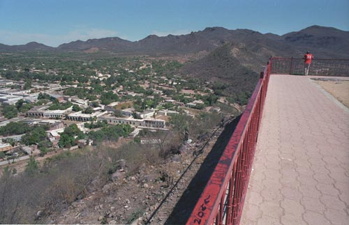 Looking to the north from El Mirador, alamos, Sonora, Mexico.  Photo by Anders Tomlinson.