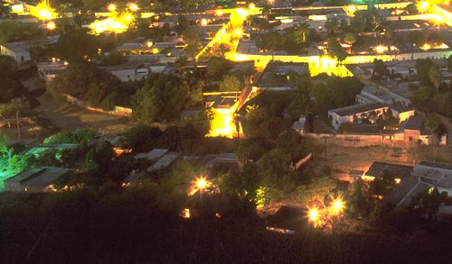 Barrio Tacubayo at night, Alamos, Sonora, Mexico.  Photo by Anders Tomlinson.