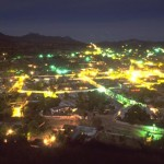 Alamos at night from El Mirador, Alamos, Sonora, mexico. Photo by Anders Tomlinson.