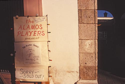 Alamas Players poster, Alamos, Sonora, Mexico.  Photo by Anders Tomlinson