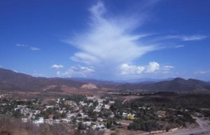 atop Mirador looking east, Alamos, Sonora, Mexico. Photo by Anders Tomlinson.