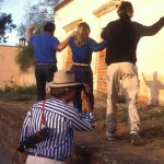 Kit Nuzum videos crew creating shadow dance, Alamos, Sonora, Mexico. Photo by Anders Tomlinson