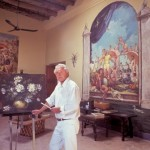 Doug Riseborough in his art studio, Alamos, Sonora, Mexico. Photo by Anders Tomlinson