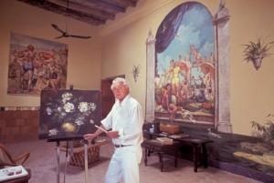 Doug Riseborough in his art studio, Alamos, Sonora, Mexico. Photo by Anders Tomlinson