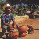Drum maker Eusevio Cortez, Alamos, Sonora, Mexico. Photo by Anders Tomlinson.
