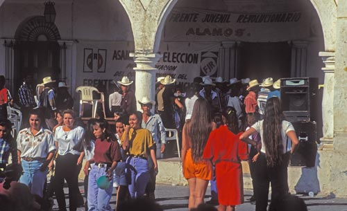 PRI meeting in Plaza, Alamos, Sonora, Mexico.  Photo by Anders Tomlinson.