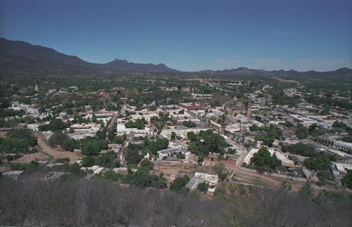 Looking west from El Mirador, Alamos, Sonora, Mexico.