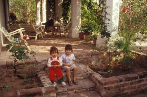 Two Figueroa children at their grand parent's ranch. Alamos, Sonora, Mexico. Photo by Anders Tomlinson.