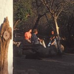 "Drinking beer in the late afternoon outside El Pedregal""s strawbale house, Alamos, Sonora, Mexico. Photo by Anders Tomlinson."
