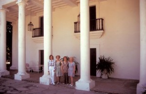 Almada women visit their former house on a guided tour of Alamos.