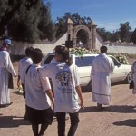 People arrived at the cemetery for the services, Alamos, Sonora, Mexico. Photo by Anders Tomlinson,