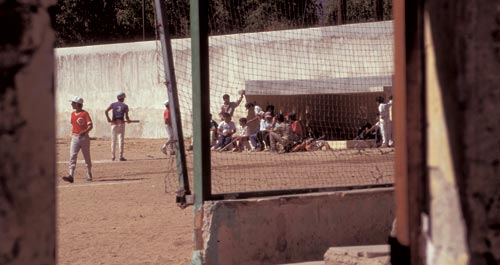 Dugouts at the ball park, Alamos, Sonora, Mexico.  Photo by Anders Tomlinson.