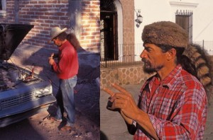 Chacho Valdez, builder of the Pedregal's palapa, Alamos, Sonora, Mexico. Photos By Anders Tomlinson.