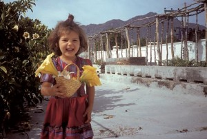 Christina Vega on Nuzum's roof garden, Alamos, Sonora, Mexico. Photo by Anders Tomlinson.