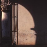 Column and shadow on Calle Comercio, Alamos, Sonora, Mexico. Photo by Anders Tomlinson