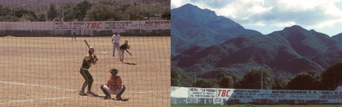 baseball park in Alamos, Sonoroa, Mexico.  Photo by Anders Tomlinson.