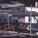 Looking down into gas station, Alamos, Sonora, Mexico. Photo by Anders Tomlinson.