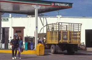 Pemex gas station, Alamos, Sonora, Mexico. Photo by Anders Tomlinson.