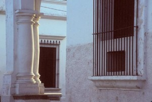 Columns and window details, Alamos, Sonora, Mexico. Photo by Anders Tomlinson