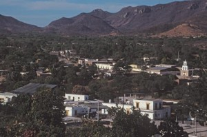 Looking northwest from The jail on Guadalupe Hill, Alamos, Sonora, Mexico. Photo by Anders Tomlinson.