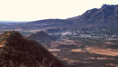 Looking south at Alamos. Sonora, Mexico from high ground