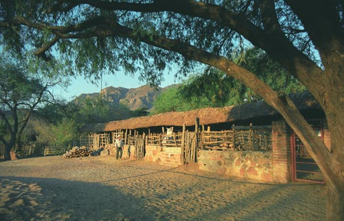 Horse stalls at Estancia Crysalis, Alamos, Sonora, Mexico.  Photo by Anders Tomlinson.