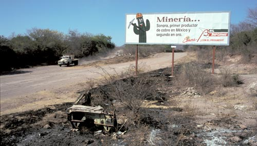 Alamos, Sonora, Mexico is the leading producer of copper in Mexico.  Photo by Anders Tomlinson.