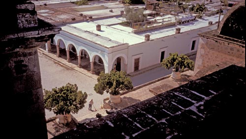 Casa Nuzum, Calle Comercio 2, from church roof looking east, Alamos, Sonora, Mexico.  Photo by Anders Tomlinson.