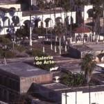 View of plaza from El Mirador. Location of Galeria de Arte is noted. Alamos, Sonora, Mexico. Photo by Anders Tomlinson.