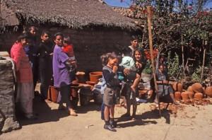 Carmen Portillo family in Uvalama village, Alamos, Sonora, Mexico. Photo by Anders Tomlinson