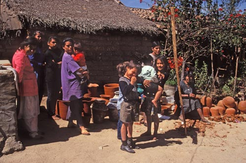 Carmen Portillo family in Uvalama village, Alamos, Sonora, Mexico.  Photo by Anders Tomlinson