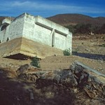 Unfinished water treatment facility upended by Summer storm. Alamos, Sonora, Mexico. Photo by Anders Tomlinson.