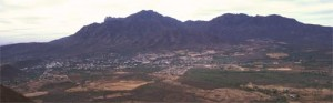 Alamos, Sonora, Mexico seen from the north on a spring morning. Photo by Anders Toml;inson.
