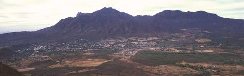 Alamos, Sonora, Mexico seen from the north on a spring morning.  Photo by Anders Tomlinson.