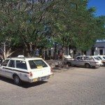 Taxi stand in the Alameda, Alamos, Sonora, Mexico. Photo by Anders Tomlinson.