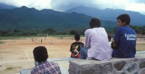 Watching a soccer game in Alamos, Sonora, Mexico. Photo by Anders Tomlinson.