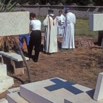 Services at held in the graveyard, Alamos, Sonora, Mexico. Photo by Anders Tomlinson.