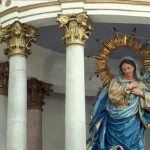 Bishop Reyes Cathedral interior, Madonna & Child, Alamos, Sonora, Mexico. Photo by Anders Tomlinson.