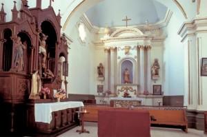 Sanctuary, Bishop Reyes Cathedral interior, Alamos, Sonora, Mexico. Photo by Anders Tomlinson.